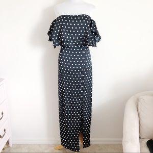 NWT White   Closet Polka Dot Ruffle Dress